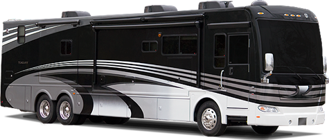 Luxury Motorhomes Class A Diesel Pusher 45 Foot Tag Axle RV - 2012 Thor Motor Coach Tuscany